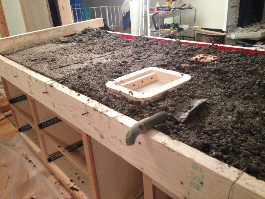 Learnings from a DIY Concrete Countertop Project - Casa Bachelor